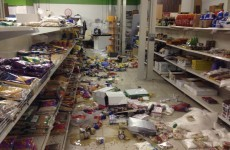 Racist graffiti scrawled on walls during Halal store ransacking