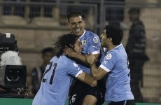 Cavani scores stunning free-kick as Uruguay all but seal World Cup spot