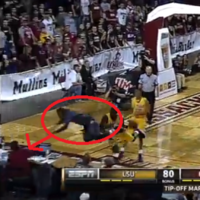 Don't sit in the front row at a basketball game