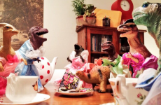 Parents convince their kids that toy dinosaurs come to life during Dinovember
