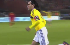 VIDEO: Falcao does what he does best against Belgium