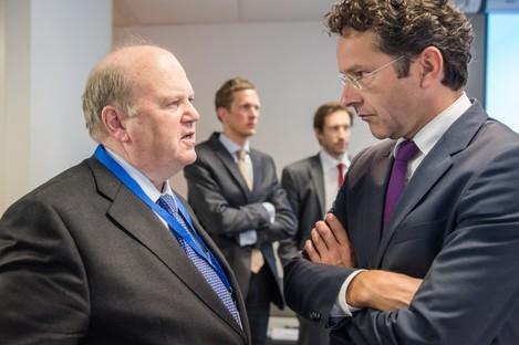 Jeroen Dijsselbloem pictured with Michael Noonan