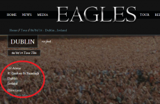 Are The Eagles playing at the O2 shop on Grafton St?