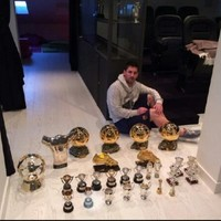 Lionel Messi has got one hell of a trophy collection