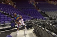 Harlem Globetrotter breaks the world record for the longest made basketball shot