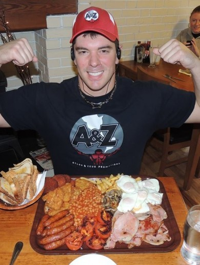 A professional eater came to Ireland - and demolished a massive breakfast