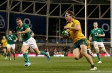 Wallabies gunning for three wins on the trot, declares two-try Hooper