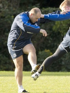 Snapshot: Richardt Strauss is back training with Leinster