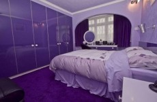 Semi-d house for sale, decorated ENTIRELY in purple