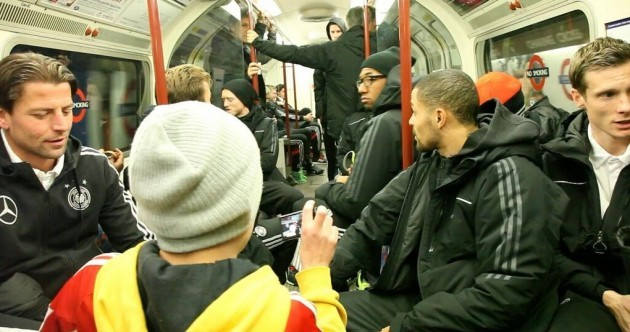Snapshot: The German football squad took the Tube to Wembley tonight