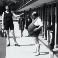 The 10-stone baby and the Human Fish: slow news days of old