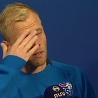 Eidur Gudjohnsen crying after Iceland's World Cup elimination is a tough watch