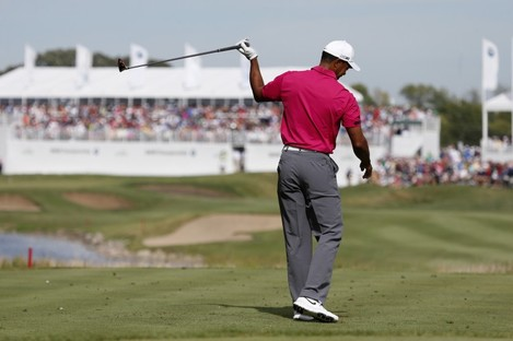 Woods: penalised at the BMW Championship in September.