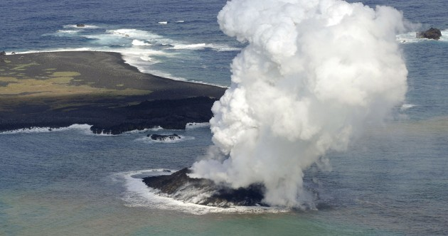 Hello, world: New island off Japan coast after volcano eruption