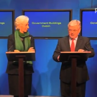 So this is what Eamon Gilmore is really saying during foreign press conferences