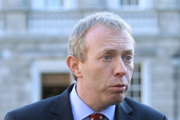 Timmy Dooley speaking at Leinster House today
