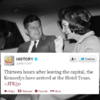 The History Channel is livetweeting JFK's fateful trip to Dallas today