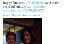 Tweet Sweeper: Glenda (32) tweets Niall (20) about making babies