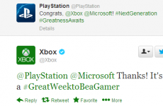 Playstation and Xbox had this cute exchange on Twitter