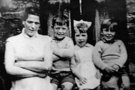 Undated file photo of Jean McConville (left) with three of her children before she vanished in 1972