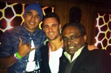 Simon Zebo and Dan Carter partied together in Krystle nightclub last night