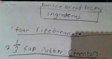 Irish kid's hilarious handwritten recipe calls for 'mental butter'