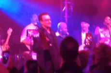 Bono and The Edge cover Get Lucky in wedding-band style