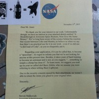 "NASA confirms that ""sh*tload of coke"" letter is a fake"