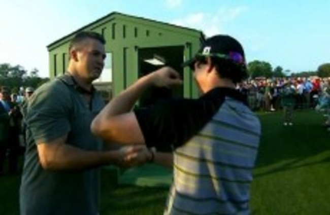 Did a pro-wrestling star commiserate with Rory after his Masters collapse?