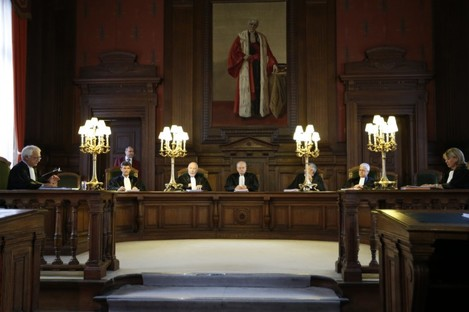 Court of Cassation at the Justice Palace in Brussels.
