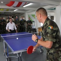 Caption Competition: Alan Shatter takes on the Defences Forces at ping pong