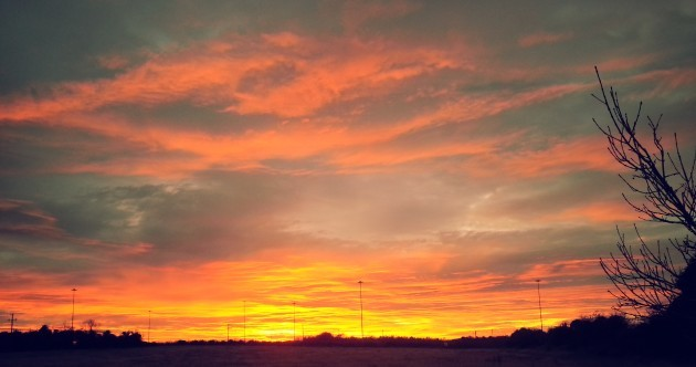 Your Pics: This evening's beautiful pink sky and sunset