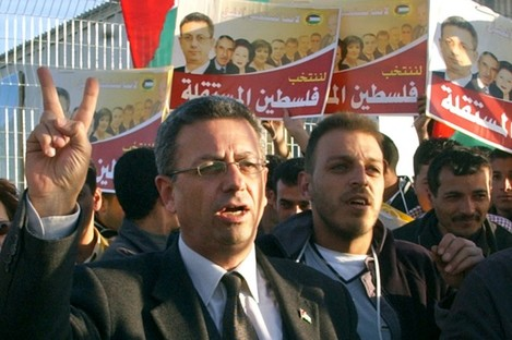 Mustafa Barghouthi at a press conference in 2006.