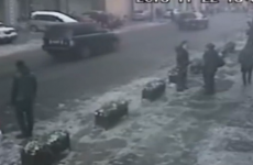 WATCH: Massive block of ice hits car in China
