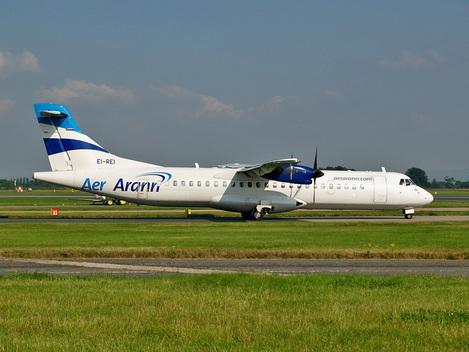 Aer Arann plane at Manchester Airport