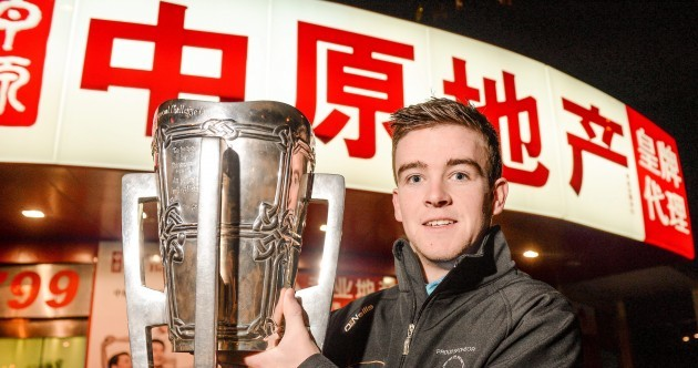 Spotted in Shanghai - Liam MacCarthy Cup in possession of a Clare hurler