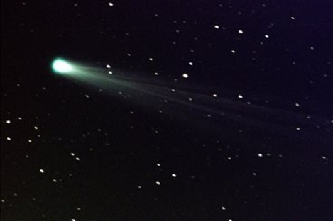 Photo courtesy of NASA, Comet ISON shows off its tail in this three-minute exposure taken on Nov. 19, 2013 at 6:10 a.m. EST, using a 14-inch telescope located at the Marshall Space Flight Center.