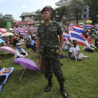 Thai protesters storm army HQ and ruling party offices