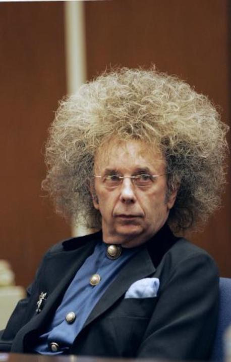 Music producer Phil Spector.