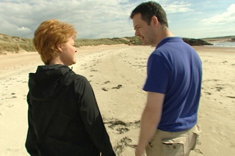 Ursula Halligan and Pearse Doherty in his home county of Donegal. His father was a Fianna Fáil man but he says it is the last party he would go into power with.