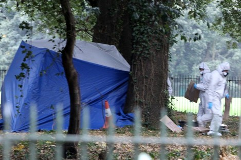 The scene where the man's body was found.