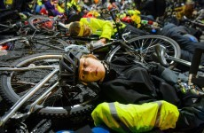 London cyclists hold 'die-in' protest over road deaths