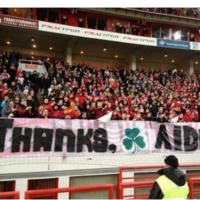 Snapshot: Spartak Moscow fans bid McGeady a fond farewell