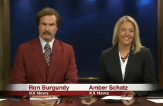 Ron Burgundy anchored a real evening news bulletin in North Dakota