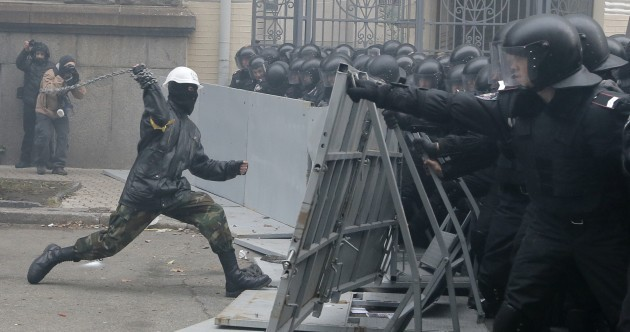 Ukraine protesters take over mayor's office and set up 'Revolution HQ'