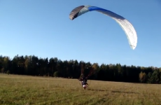 Paraglider takeoff goes horribly, horribly wrong