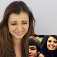 Rebecca Black watches Friday, two years after she released it