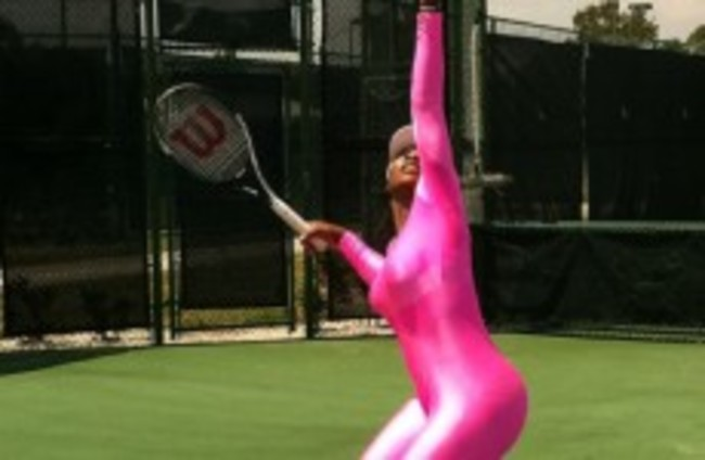 Serena Williams gets back to business
