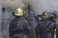 Firefighter survives six-storey fall