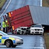 Lorry driver killed as UK lashed by major storm